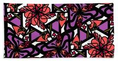 Beach Towel featuring the digital art Digi-flora by Elizabeth McTaggart