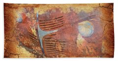 Beach Towel featuring the photograph Dodge In Rust by Larry Bishop