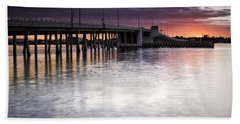 Drawbridge At Sunset Beach Sheet by Fran Gallogly