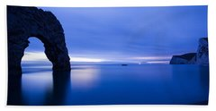 Durdle Door At Dusk Beach Towel