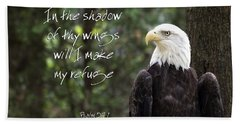 Eagle Scripture Beach Towel