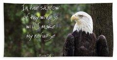 Eagle Scripture Beach Sheet