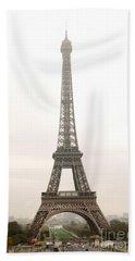 Eiffel Tower Beach Towel by Elena Elisseeva