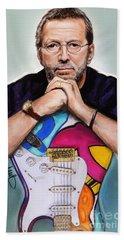 Eric Clapton Beach Sheet by Melanie D