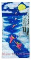 Faery Merry Christmas Beach Towel