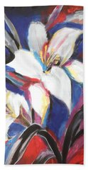 Fair Pure Fragile White Lilies Beach Towel