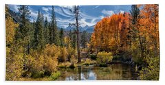 Fall At Bishop Creek Beach Towel