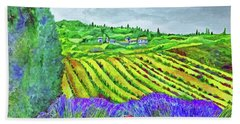 Fields At Dievole Beach Towel
