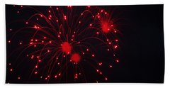 Fireworks Beach Sheet by Rowana Ray