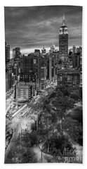Flatiron District Birds Eye View Beach Towel
