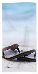 Flip-flops On Beach Beach Towel