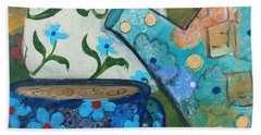 Floral Tea Beach Towel