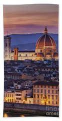 Beach Towel featuring the photograph Florence Duomo by Brian Jannsen