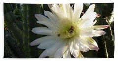 Flowering Cactus 1 Beach Sheet