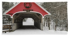 Flume Covered Bridge - White Mountains New Hampshire Usa Beach Towel