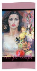 Food For Thought 2 - Pastel Art Beach Towel