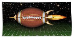 Football Spaceship Beach Towel by James Larkin