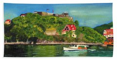 Fort George Grenada Beach Towel by Laura Forde