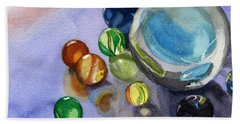 Found My Marbles Beach Towel by Lynne Reichhart