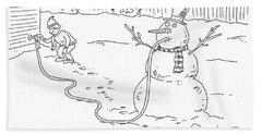 Fracky The Snowman Beach Towel