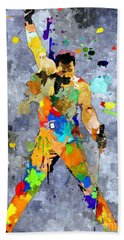Freddie Mercury Beach Towel by Daniel Janda