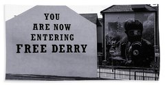 Free Derry Corner Beach Towel