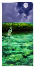 Full Moon Fishing Beach Towel