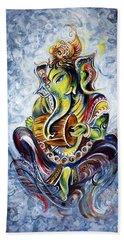 Musical Ganesha Beach Towel