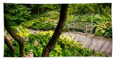 Garden Bench Beach Sheet by Joe Mamer