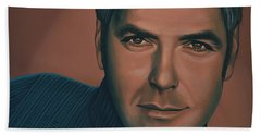 George Clooney Painting Beach Towel