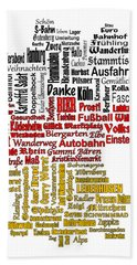 Germany Map Beach Towel