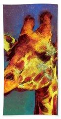 Giraffe Abstract Beach Towel