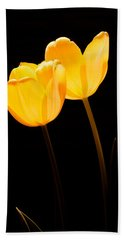Glowing Tulips II Beach Towel