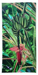 Beach Towel featuring the mixed media Going Bananas by Deborah Boyd