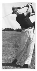 Golfer Sam Snead Beach Towel