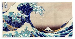 Great Wave Off Kanagawa Beach Sheet