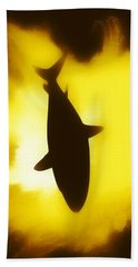 Aaron Berg Photography Beach Towel featuring the digital art Great White  by Aaron Berg