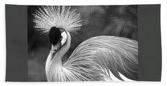 Grey Crowned Crane Beach Towel by Venetia Featherstone-Witty