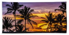 Hawaiian Sunset Beach Towel by Juli Scalzi