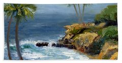 Heisler Park Beach Towel by Alice Leggett