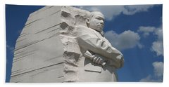 Beach Towel featuring the photograph Honoring Martin Luther King by Cora Wandel