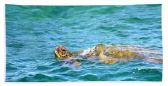 Honu Hawaiian Green Sea Turtle Beach Towel by Lehua Pekelo-Stearns
