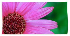 Pink Gerbera Flower Beach Towel