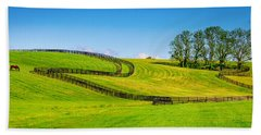 Horse Farm Fences Beach Sheet