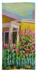 Hot Hollyhocks Beach Sheet