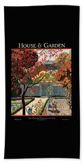 House And Garden Fall Planting Number Cover Beach Towel