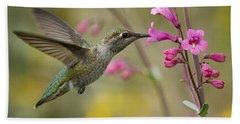 Hummingbird Heaven  Beach Towel