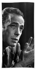 Humphrey Bogart Portrait 2 Karsh Photo Circa 1954-2014 Beach Towel