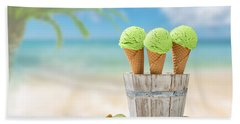Ice Creams  Beach Sheet by Amanda Elwell