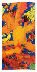 Beach Towel featuring the mixed media Impact by Donald J Ryker III
